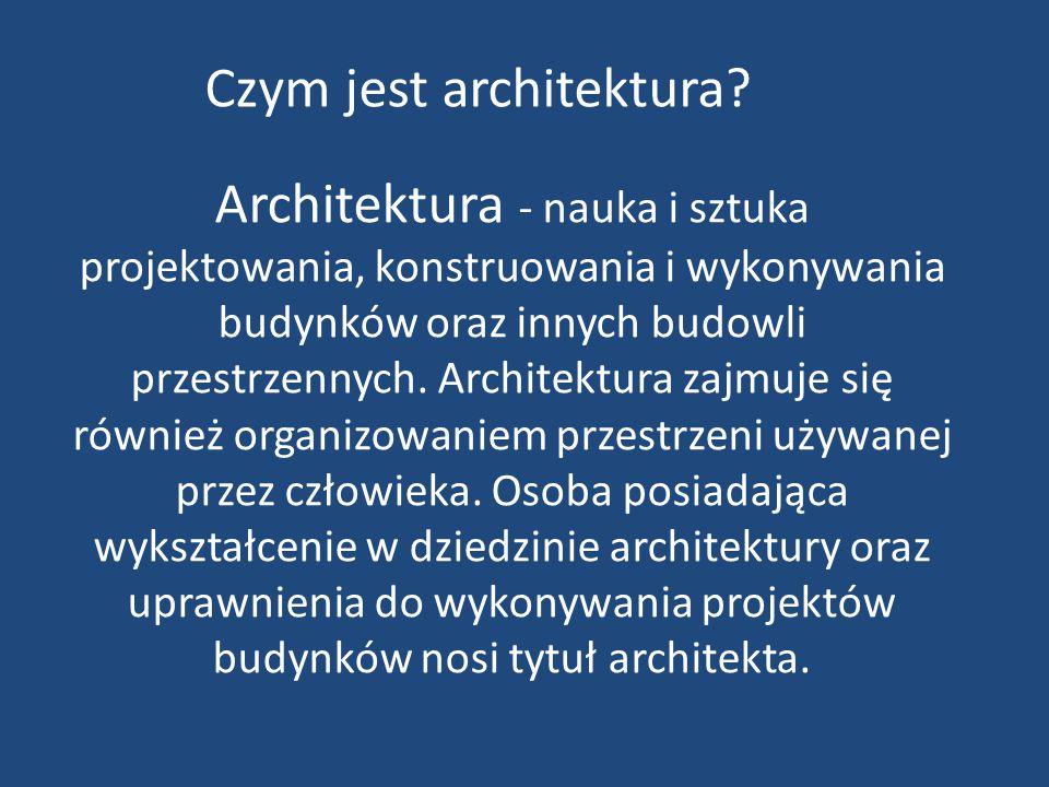 Czym jest architektura