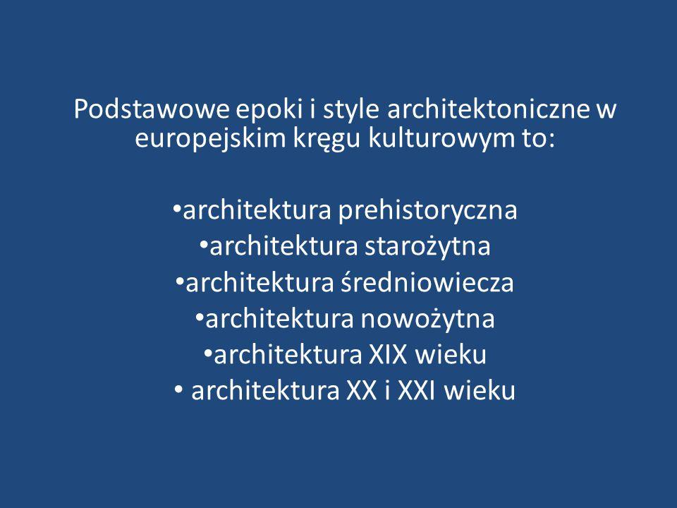 architektura prehistoryczna architektura starożytna