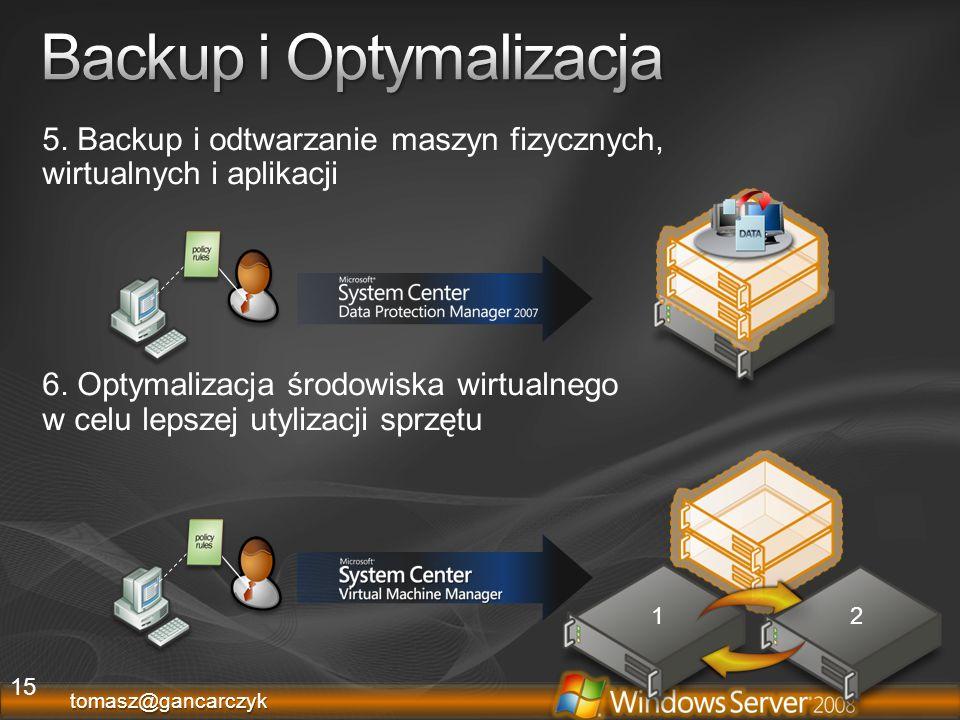 Backup i Optymalizacja