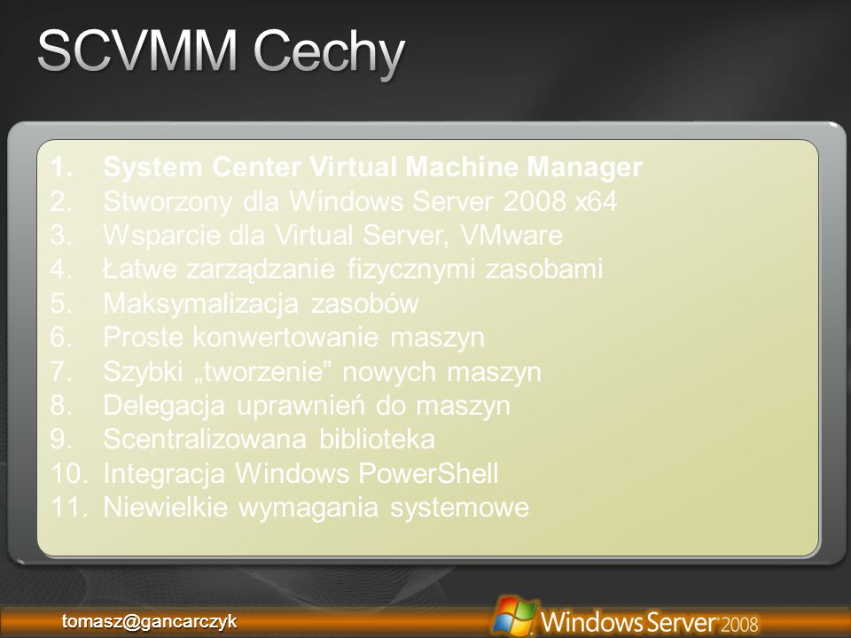 Module 7: Introduction to System Center Virtual Machine Manager