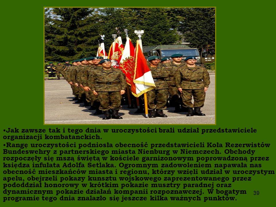 Jak zawsze tak i tego dnia w uroczystości brali udział przedstawiciele organizacji kombatanckich.
