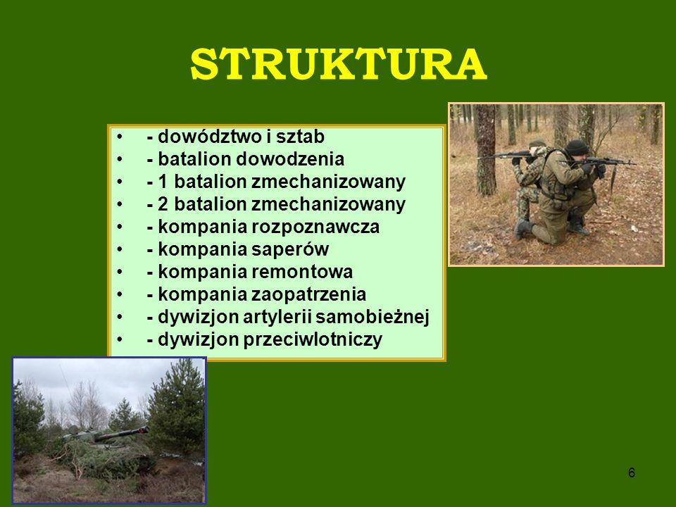 STRUKTURA - dowództwo i sztab - batalion dowodzenia