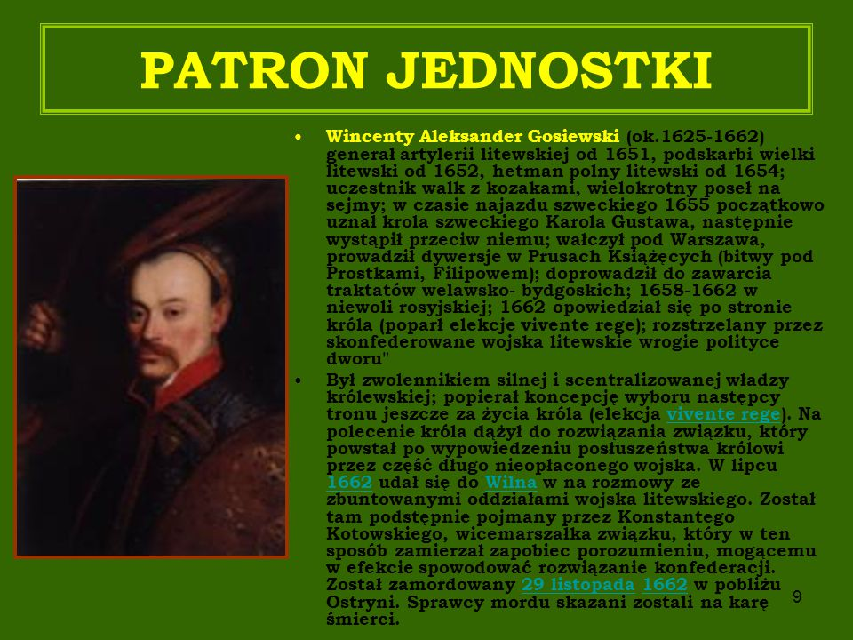 PATRON JEDNOSTKI