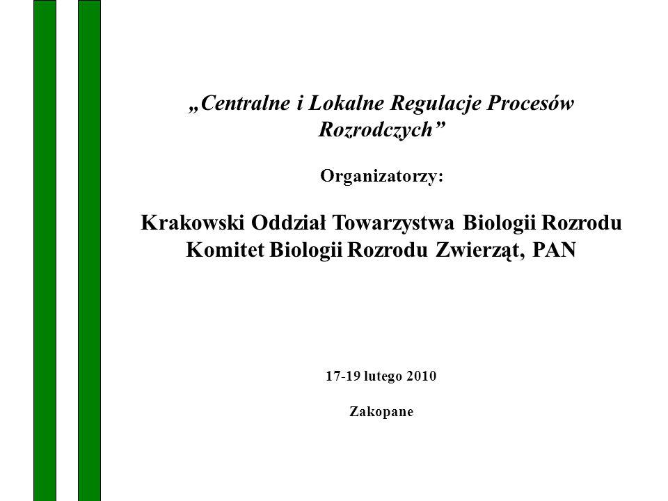 """""""Centralne i Lokalne Regulacje Procesów Rozrodczych"""