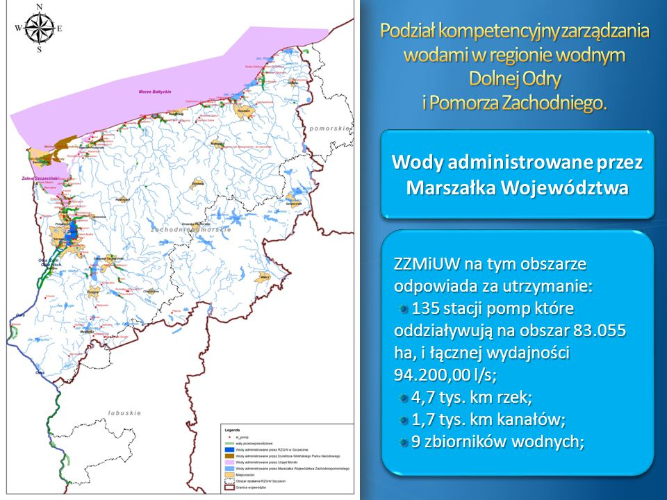 Wody administrowane przez Marszałka Województwa