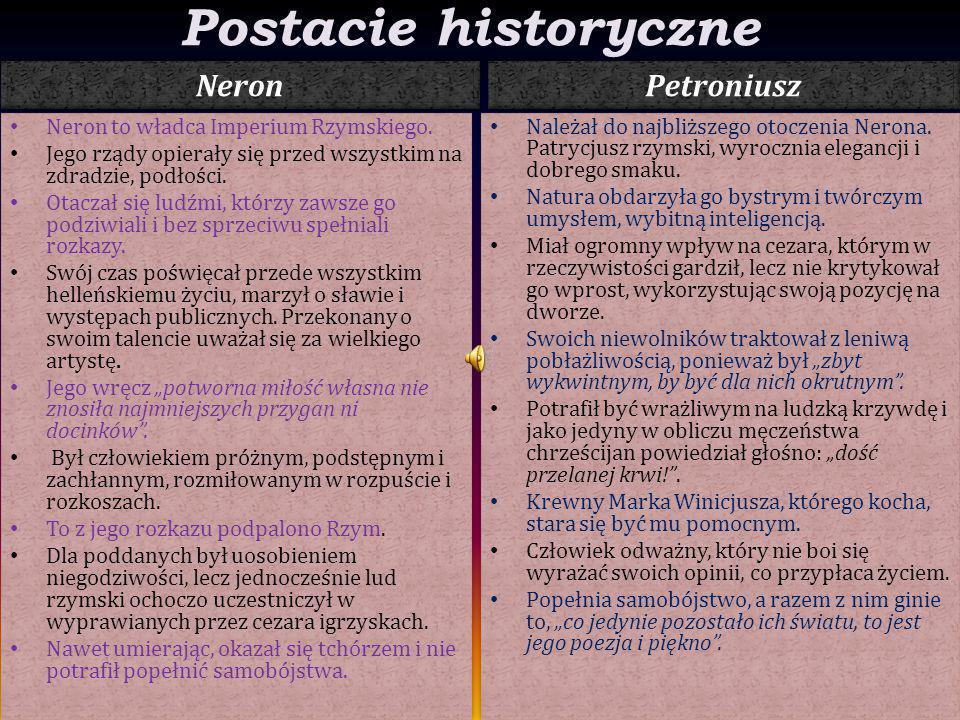Postacie historyczne Neron Petroniusz