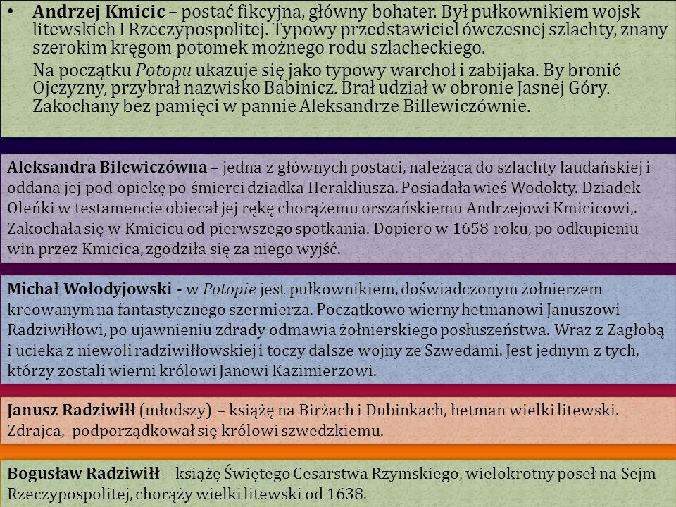 Andrzej Kmicic – postać fikcyjna, główny bohater