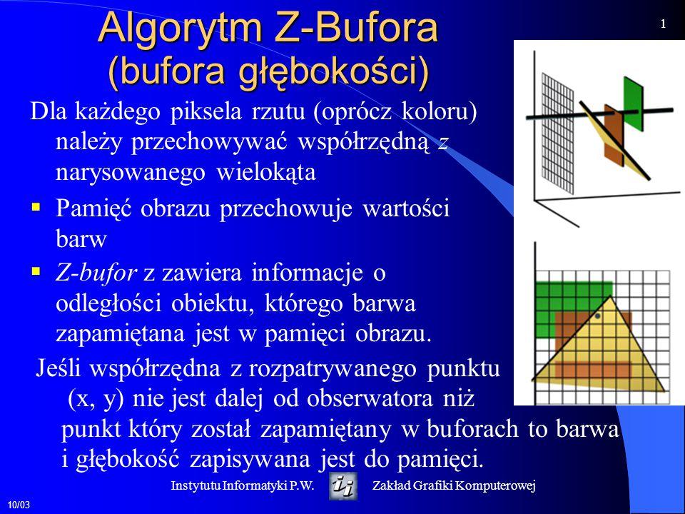 Algorytm Z-Bufora (bufora głębokości)