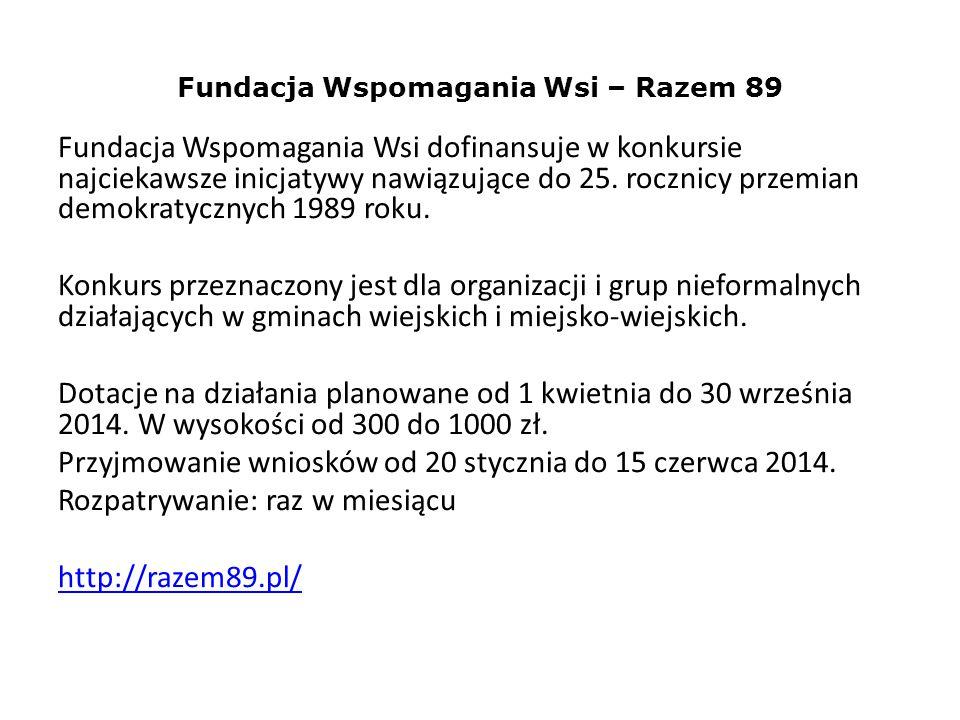 Fundacja Wspomagania Wsi – Razem 89