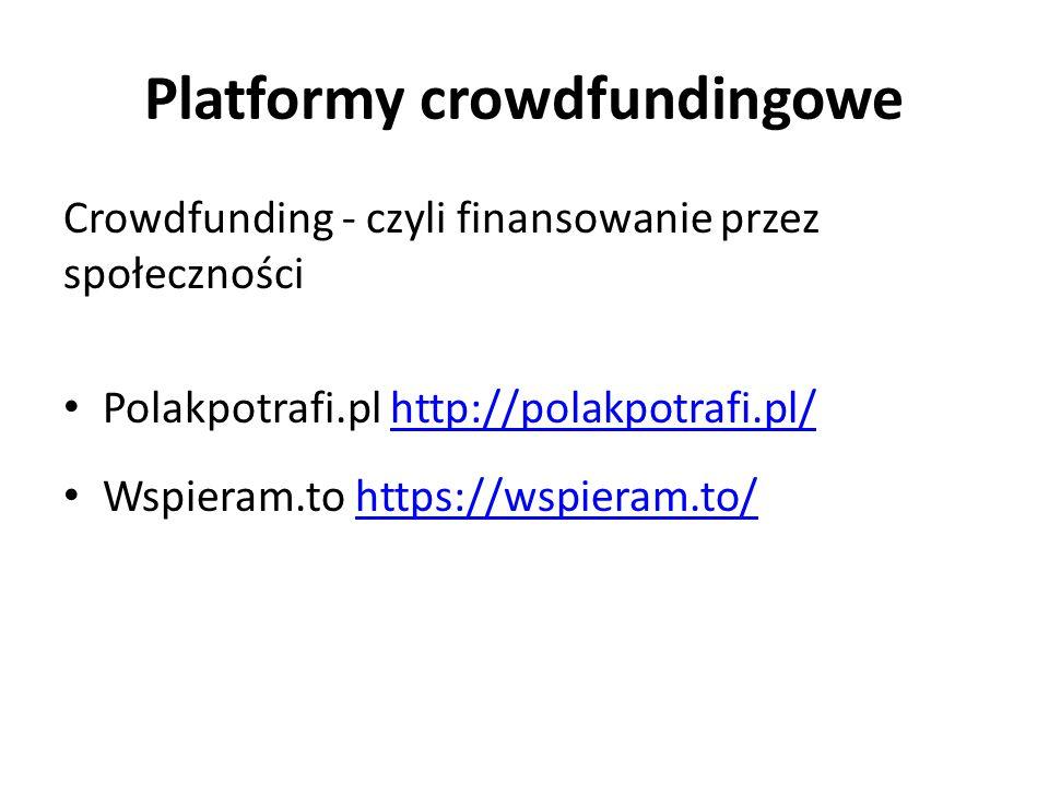 Platformy crowdfundingowe