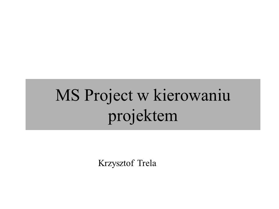 MS Project w kierowaniu projektem