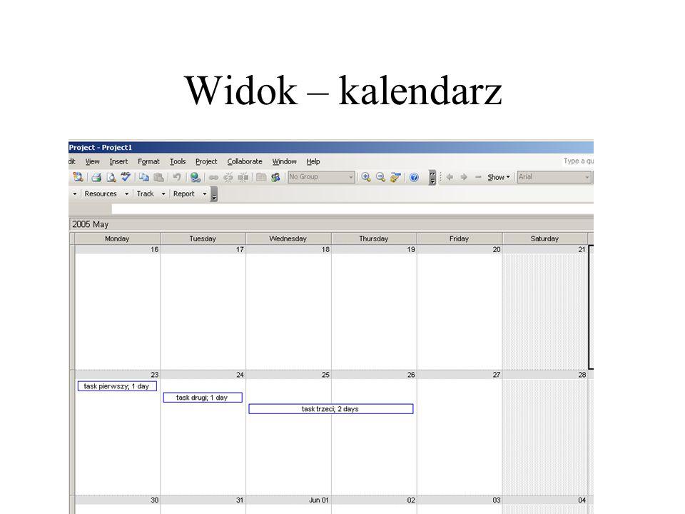 Widok – kalendarz