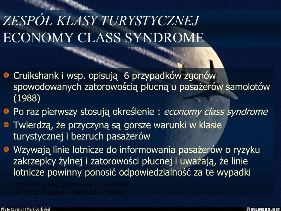 ZESPÓŁ KLASY TURYSTYCZNEJ ECONOMY CLASS SYNDROME