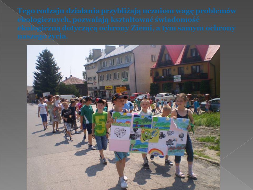 Tego rodzaju działania przybliżają uczniom wagę problemów ekologicznych, pozwalają kształtować świadomość ekologiczną dotyczącą ochrony Ziemi, a tym samym ochrony naszego życia.
