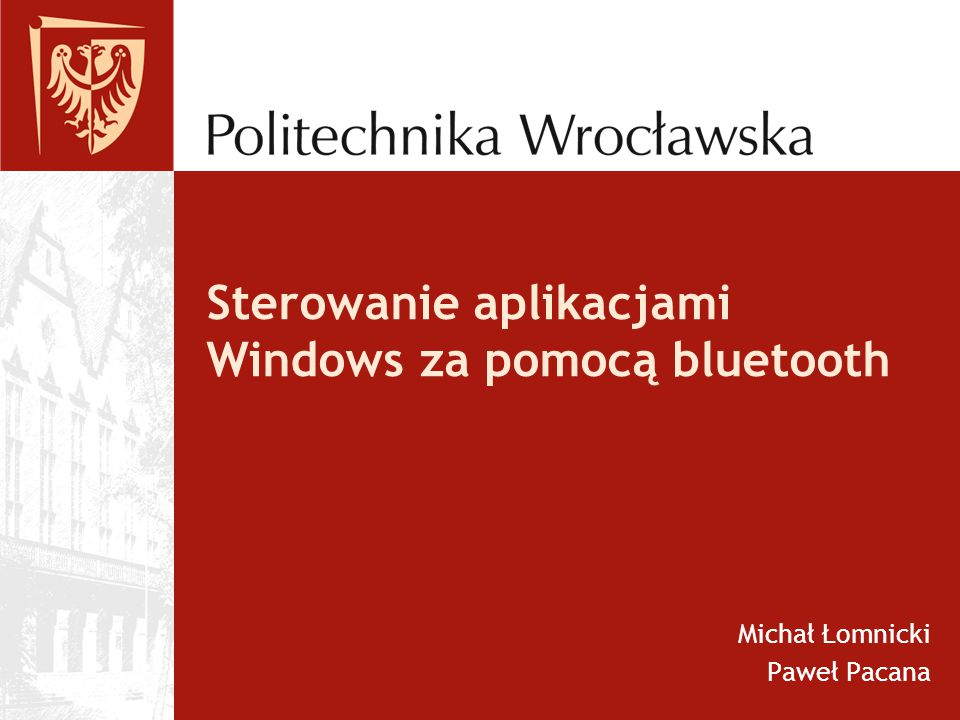 Sterowanie aplikacjami Windows za pomocą bluetooth