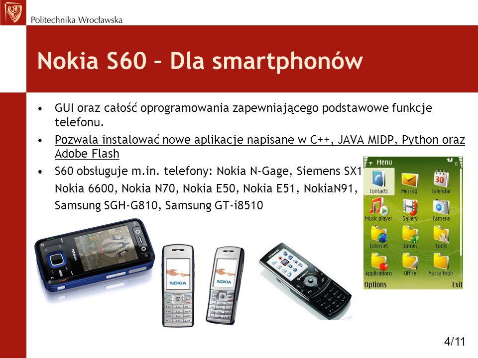 Nokia S60 – Dla smartphonów