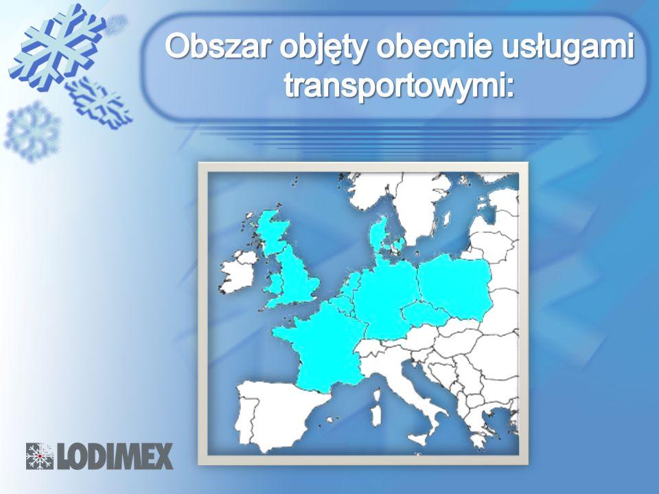 Obszar objęty obecnie usługami transportowymi: