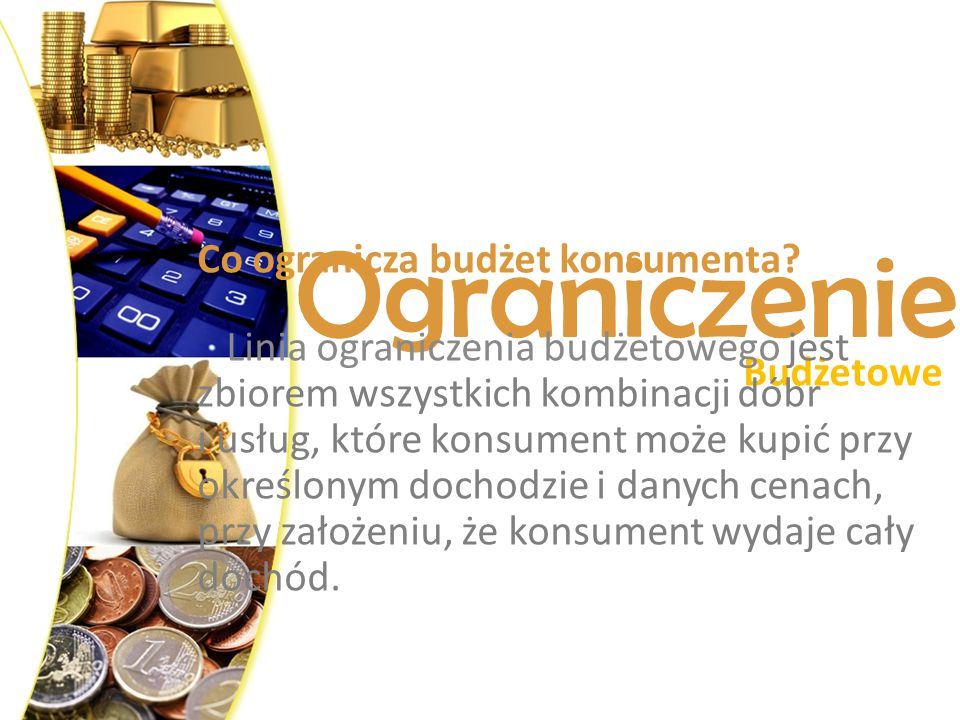 Ograniczenie Co ogranicza budżet konsumenta