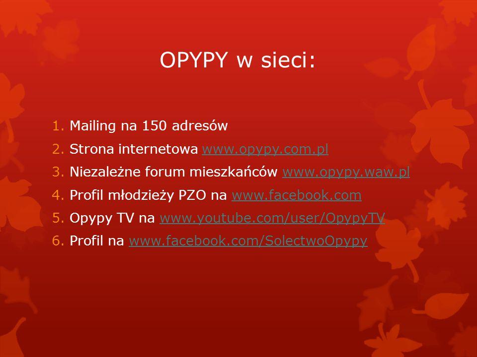 OPYPY w sieci: Mailing na 150 adresów