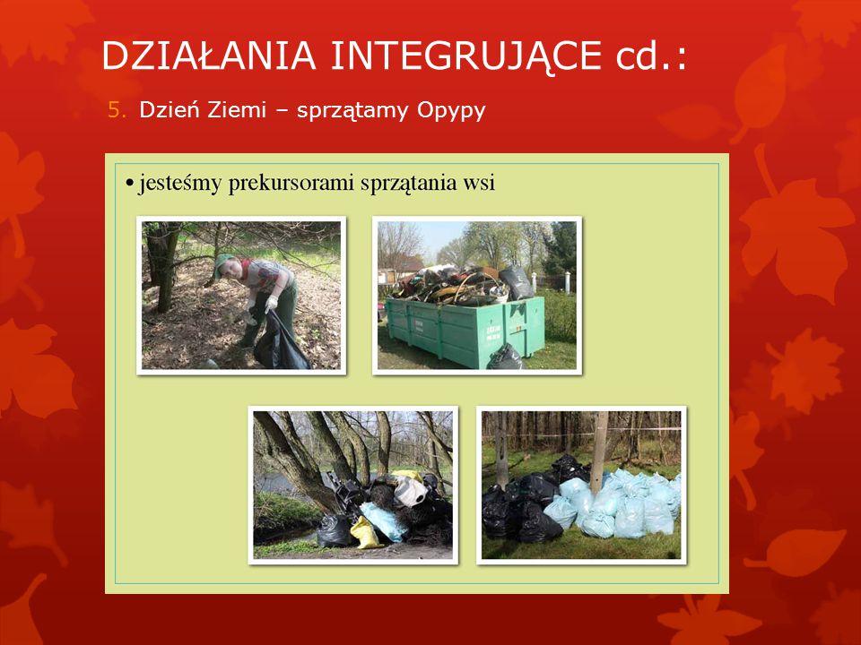 DZIAŁANIA INTEGRUJĄCE cd.: