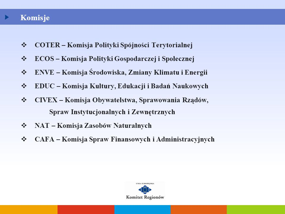 Komisje COTER – Komisja Polityki Spójności Terytorialnej