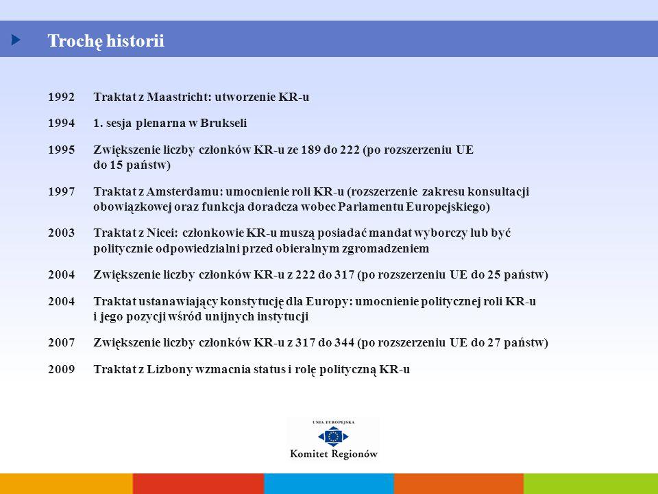 Trochę historii 1992 Traktat z Maastricht: utworzenie KR-u