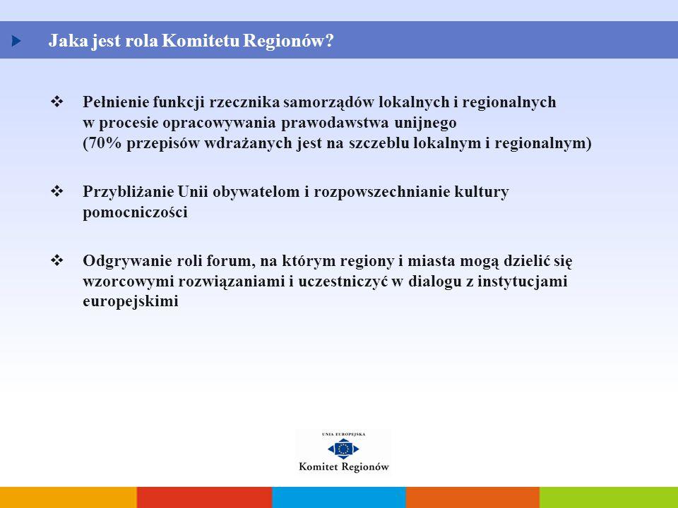 Jaka jest rola Komitetu Regionów