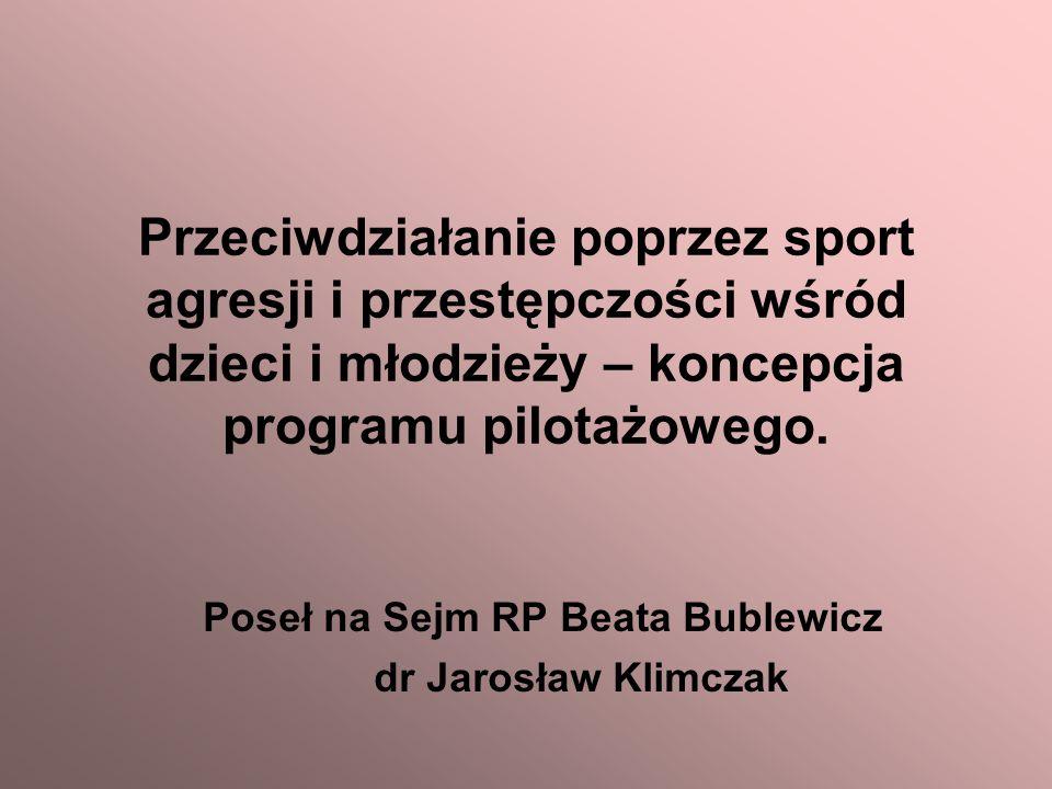Poseł na Sejm RP Beata Bublewicz dr Jarosław Klimczak