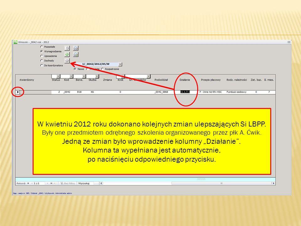 W kwietniu 2012 roku dokonano kolejnych zmian ulepszających Si LBPP.