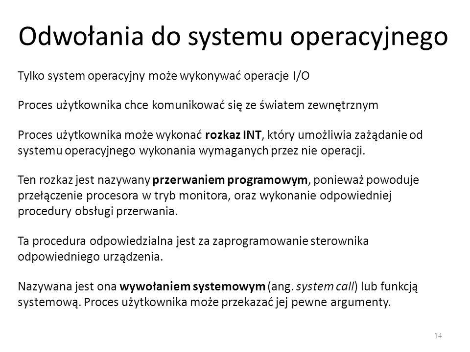 Odwołania do systemu operacyjnego