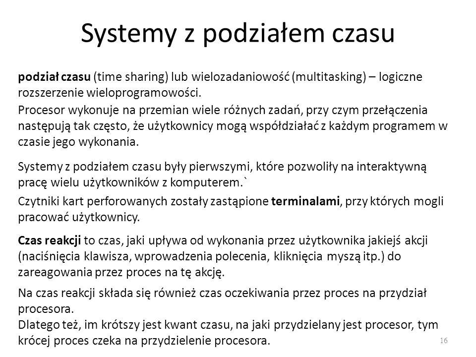 Systemy z podziałem czasu