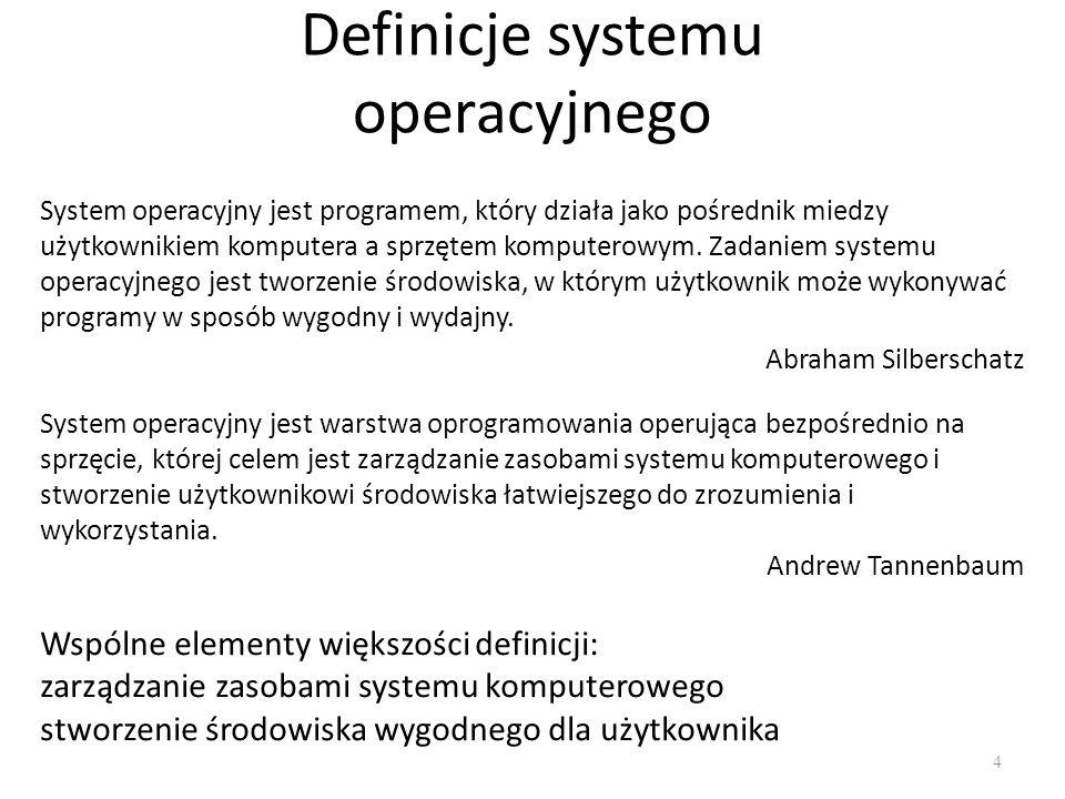 Definicje systemu operacyjnego