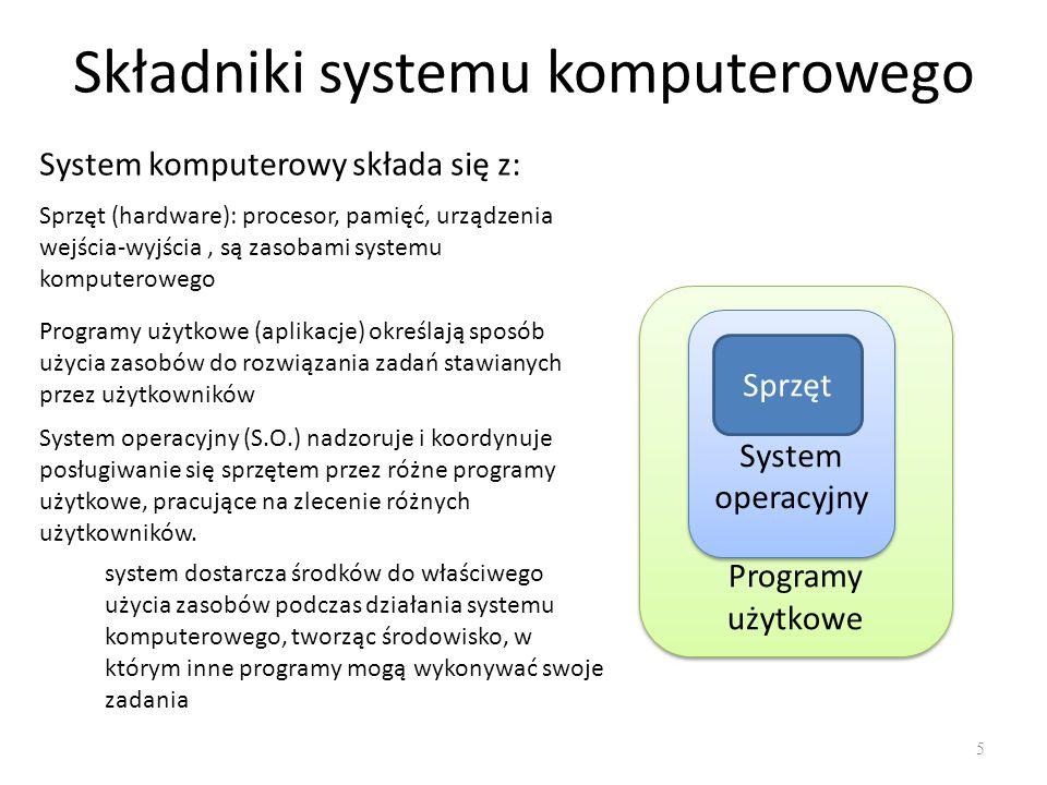 Składniki systemu komputerowego
