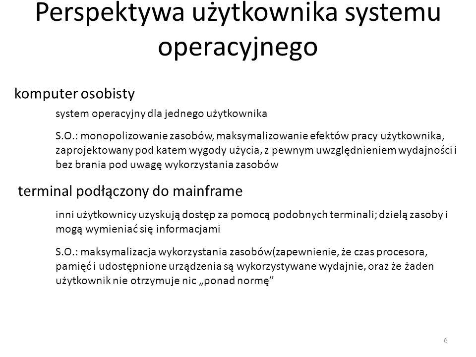 Perspektywa użytkownika systemu operacyjnego