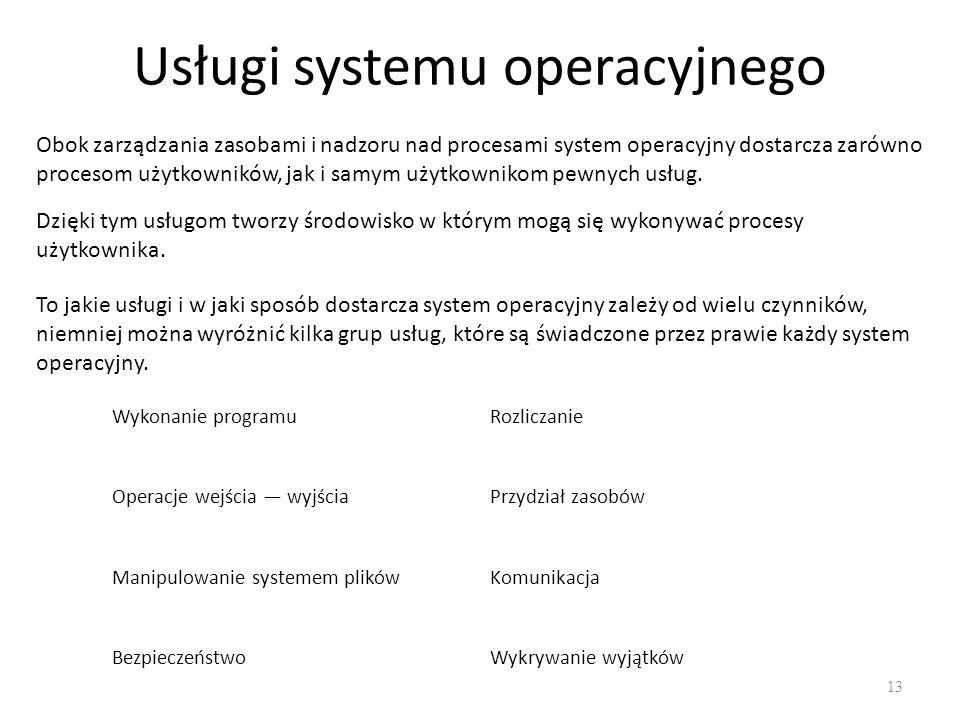 Usługi systemu operacyjnego