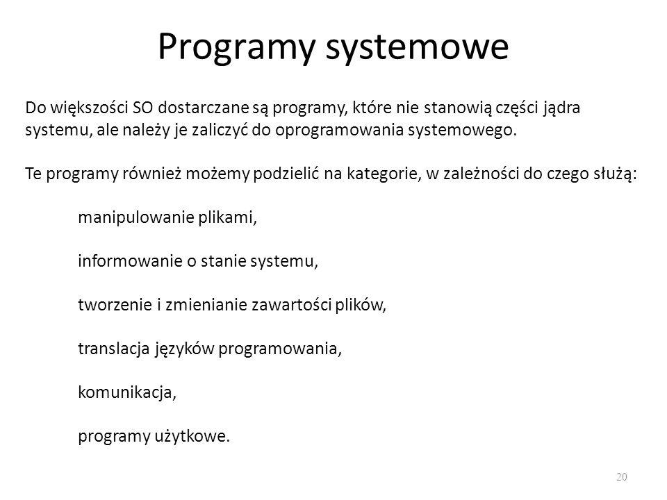 Programy systemowe