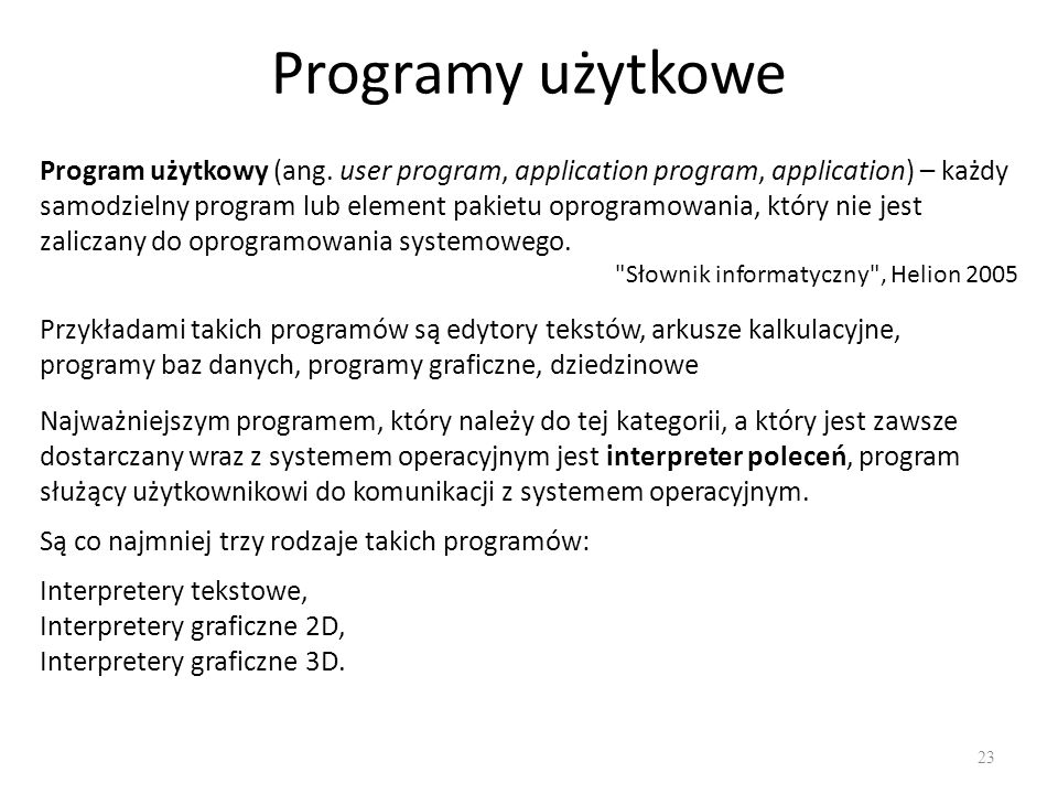 Programy użytkowe