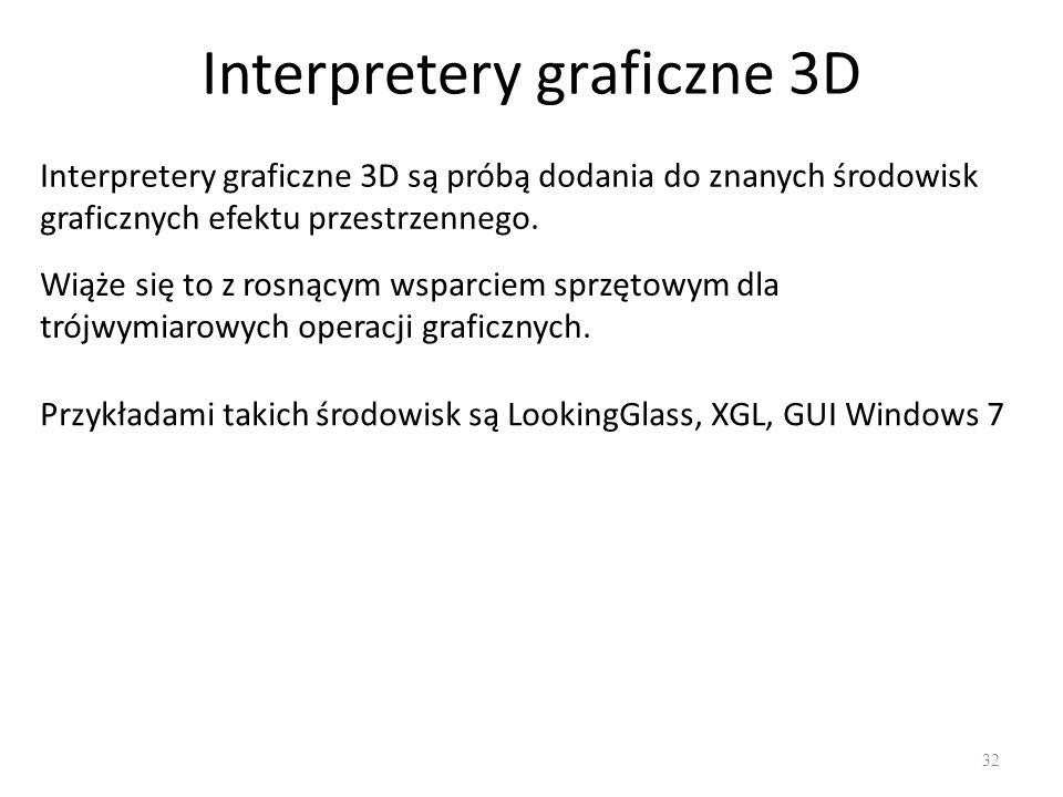 Interpretery graficzne 3D