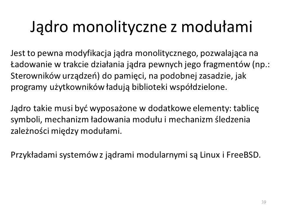 Jądro monolityczne z modułami