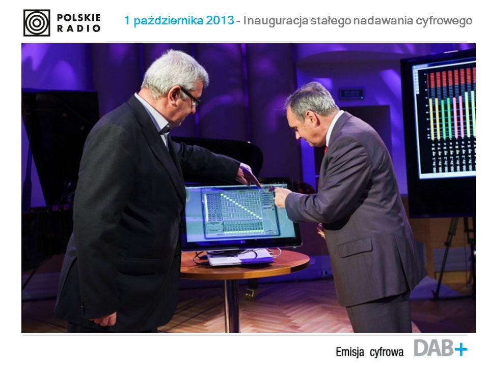 1 października 2013 - Inauguracja stałego nadawania cyfrowego