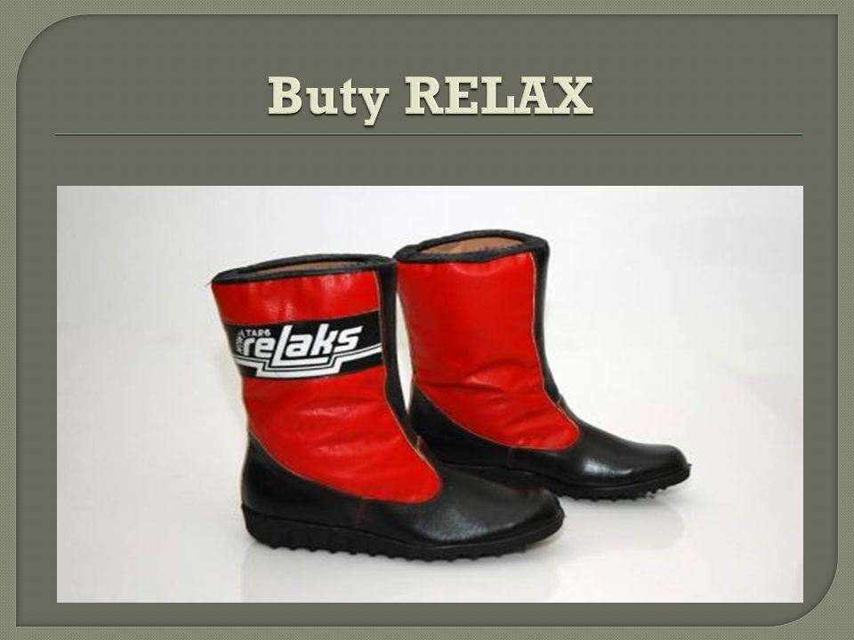 Buty RELAX