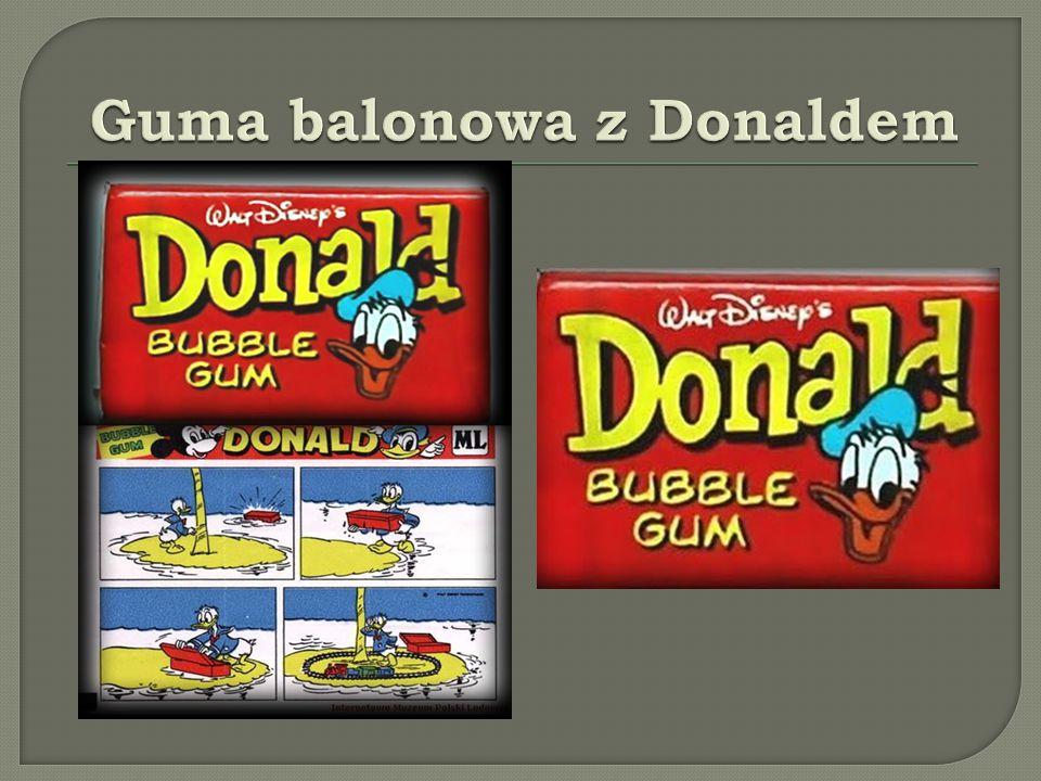 Guma balonowa z Donaldem