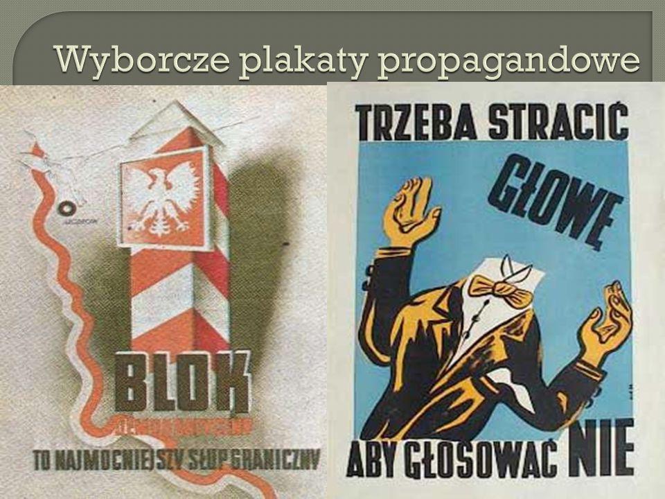 Wyborcze plakaty propagandowe