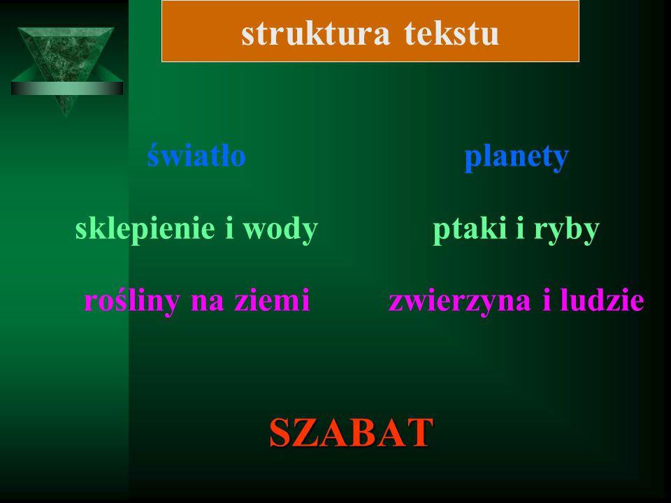 SZABAT struktura tekstu światło sklepienie i wody rośliny na ziemi