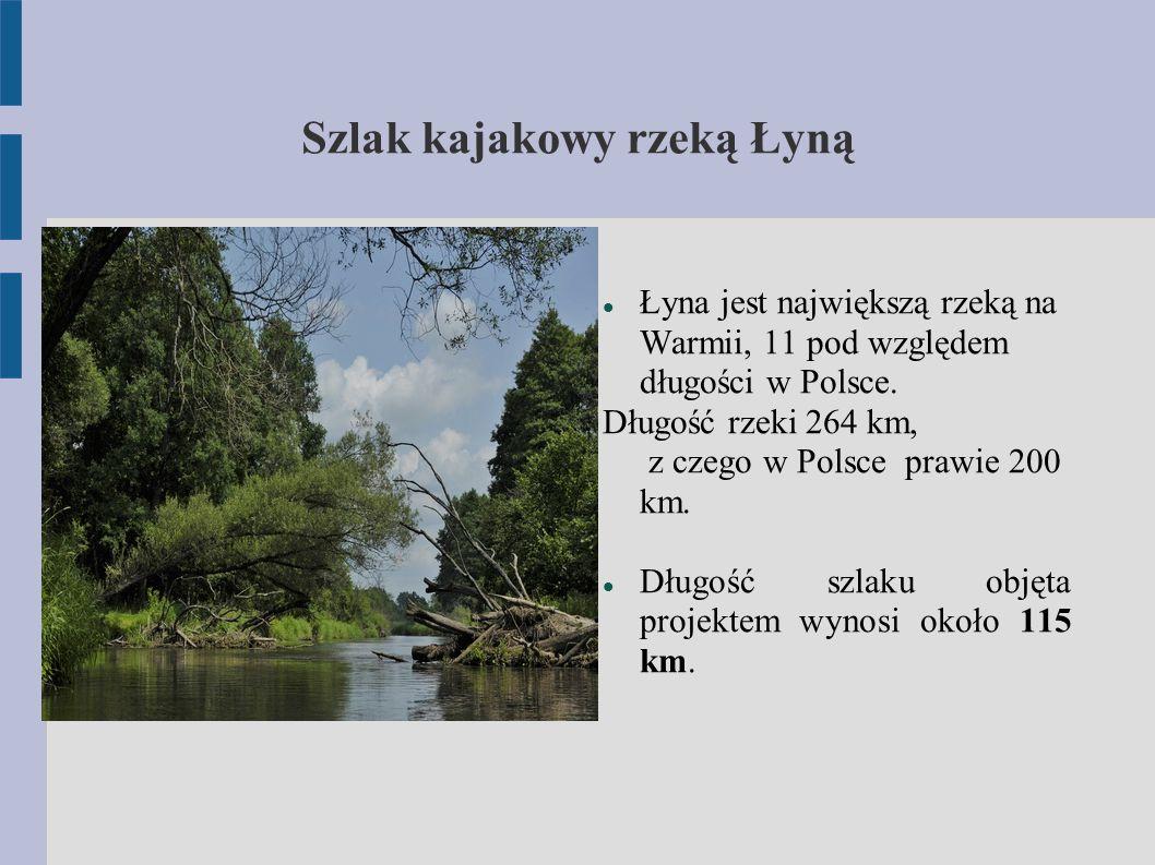 Szlak kajakowy rzeką Łyną