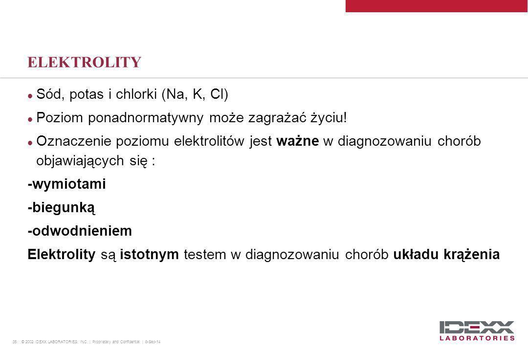ELEKTROLITY Sód, potas i chlorki (Na, K, Cl)