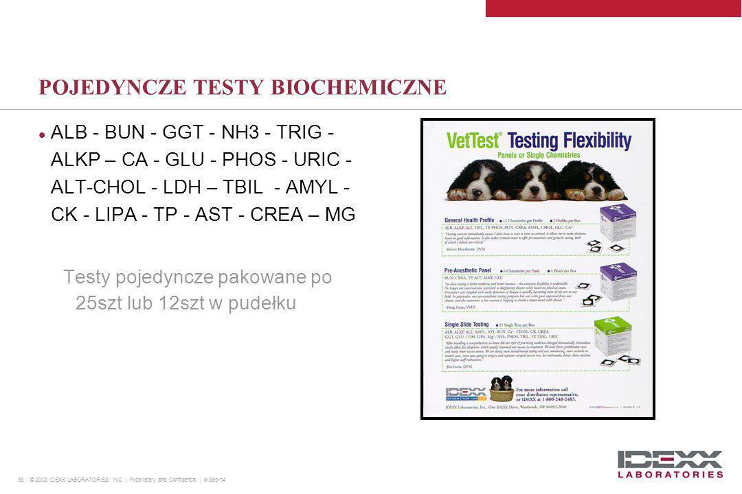 POJEDYNCZE TESTY BIOCHEMICZNE