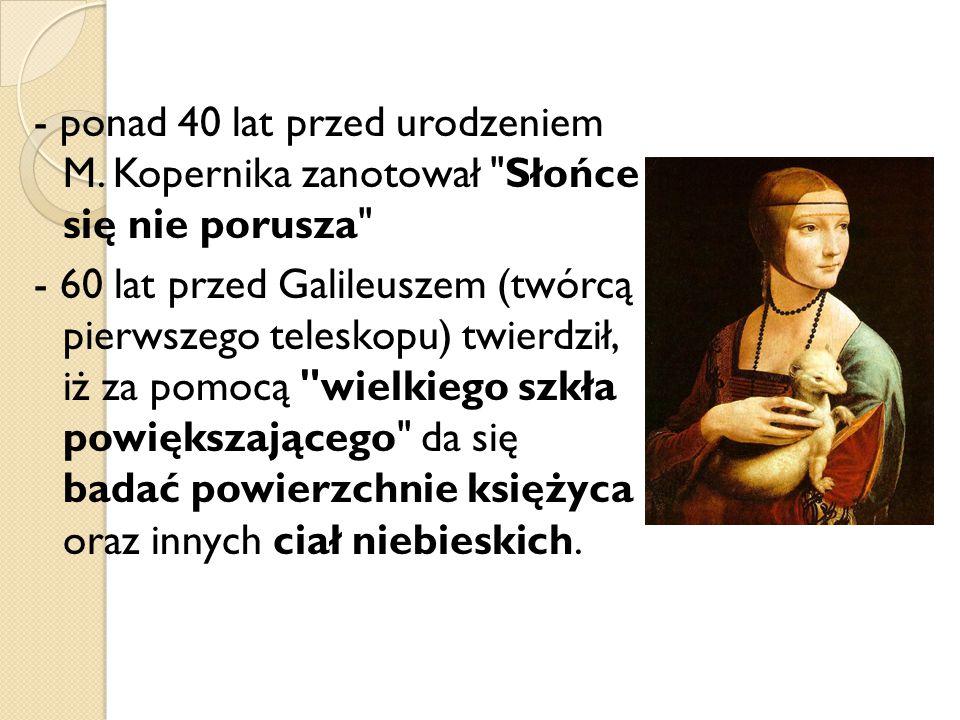 - ponad 40 lat przed urodzeniem M