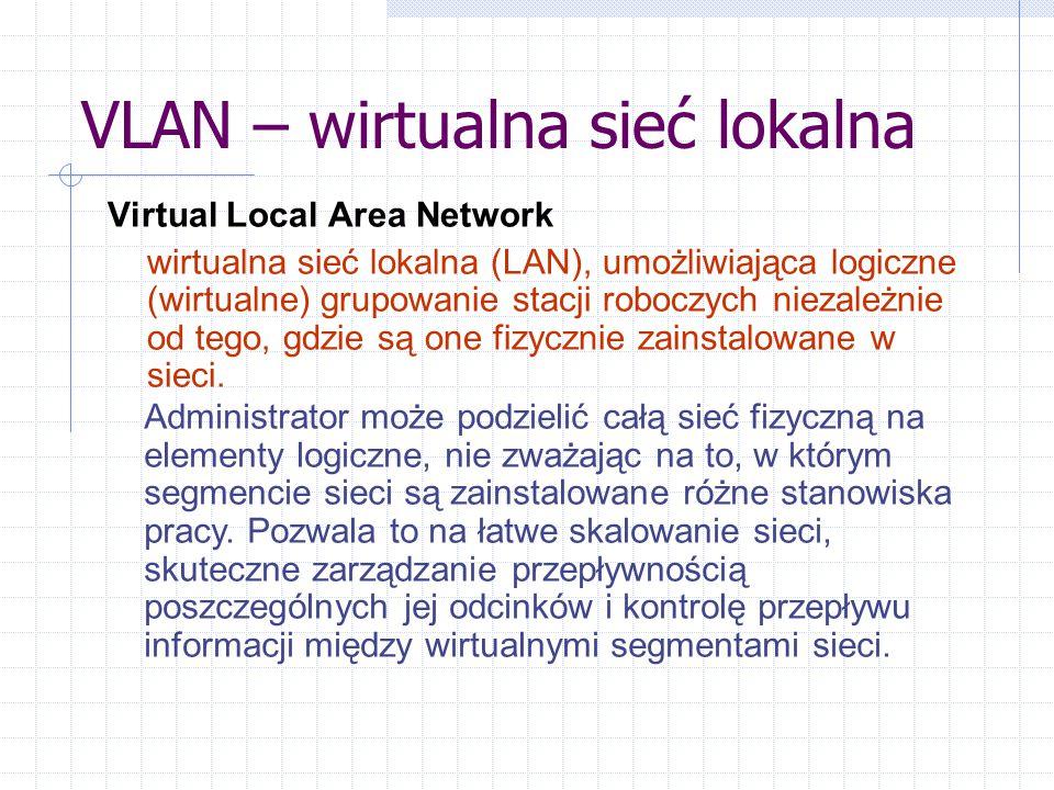 VLAN – wirtualna sieć lokalna