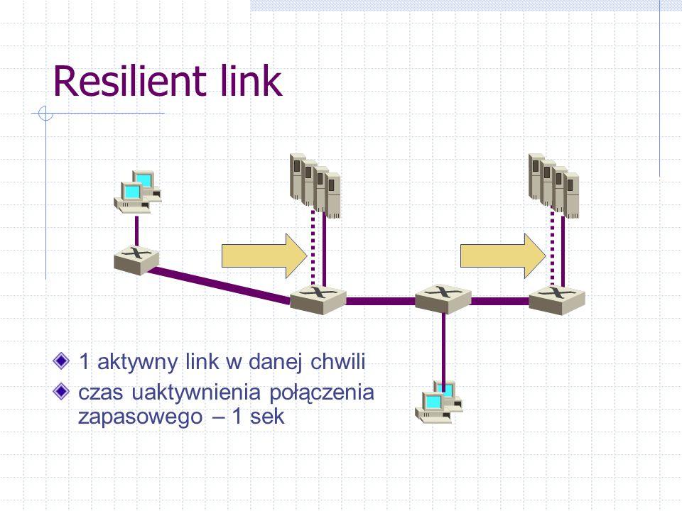 Resilient link 1 aktywny link w danej chwili